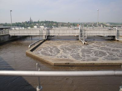 Wastewater treatment plant in Dresden, Saxony, fot. By SuSanA Secretariat [CC BY 2.0