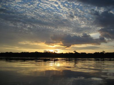 Sunrise on the Congo River